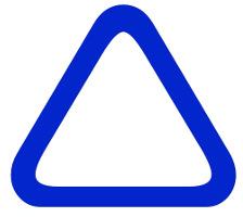 Laminated Blue Triangle